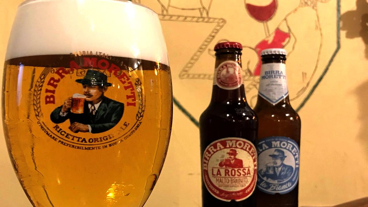 モレッティの生ビール