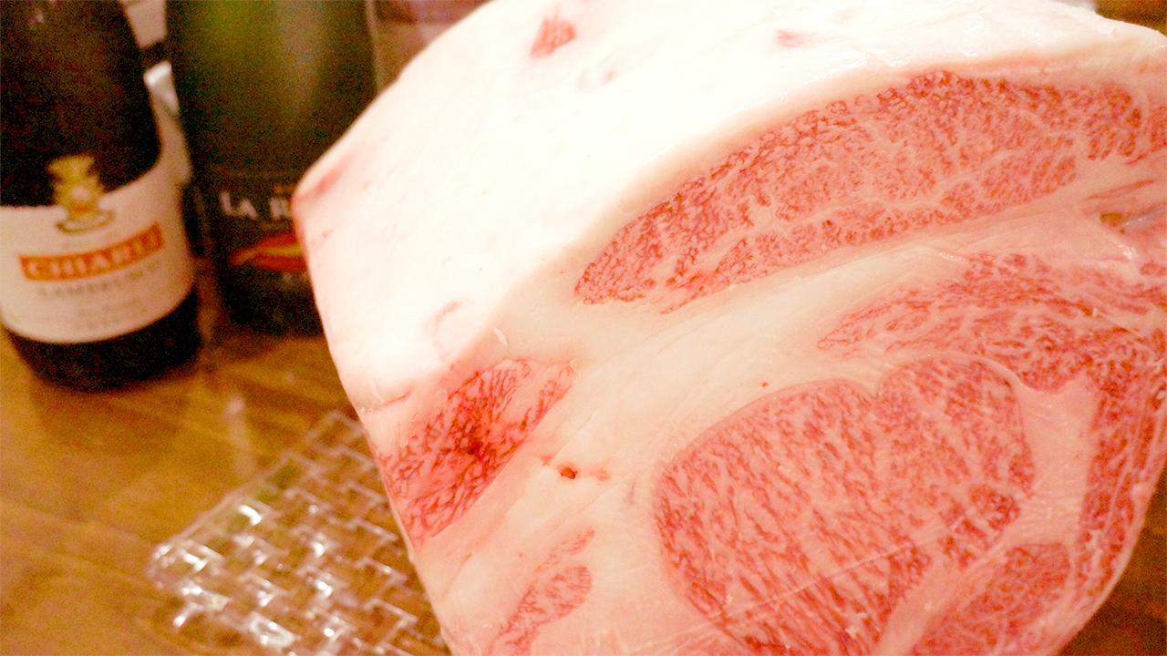 お好きな厚さで食す肉